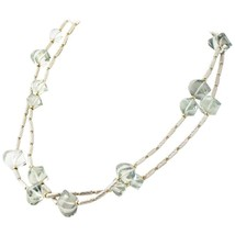 "David Yurman Sterling Silver, 18K Gold and Prasiolite Beads Station Necklace 44"" - $1,895.00"