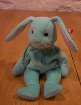 Ty Beanie Baby Hippity Green Bunny Rabbit Plush Toy - $15.35