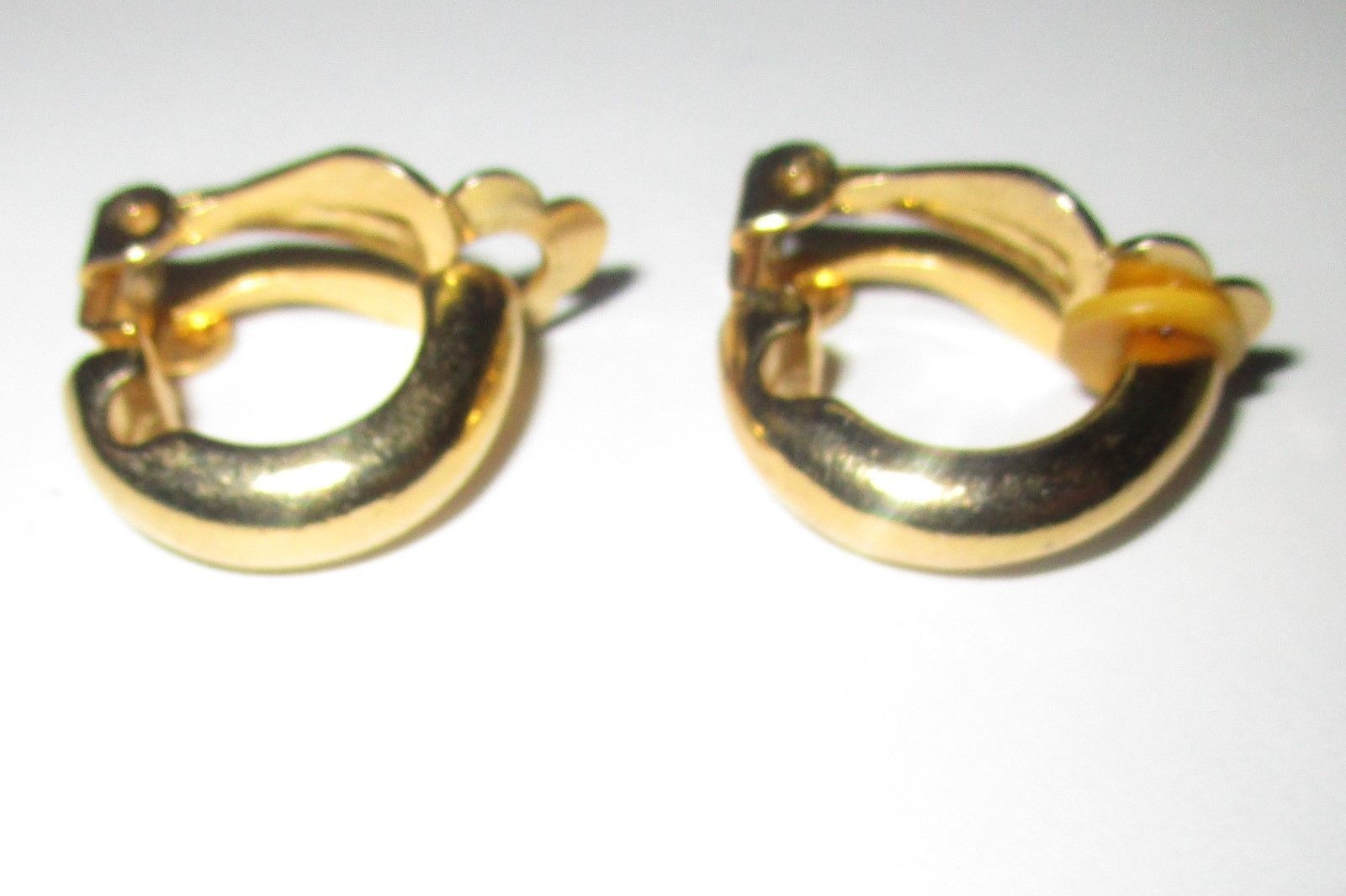 Gold tone fashion Clip on earrings. 3/4 inch. - $2.95