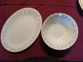 VINTAGE H CHINA PLATTER AND SERVING BOWL - $29.95
