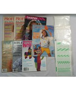 7 Vinage Knitting Magazines and 3 Packages of Knitting Punch Cards - $44.05