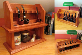 Mission Style Plans 3-Pack – Arts and Crafts Smoking Pipe Rack Plans - $24.95
