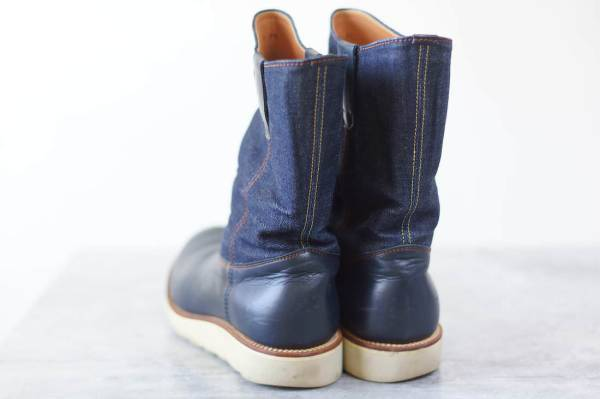TENKUMARU pecos boots denim US 7.5 Made in Japan  image 4