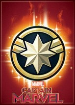 Captain Marvel Movie Star Emblem Logo Refrigerator Magnet NEW UNUSED - $3.99