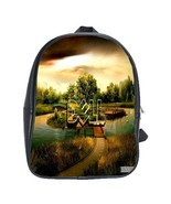 Scbag2457 backpack school bag dell logo in nature lake design an thumbtall