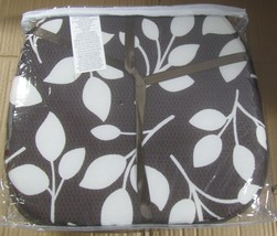 """SET OF 4 KITCHEN CHAIR PADS CUSHIONS w/strings,15""""x15"""", WHITE LEAVES ON ... - $22.76"""