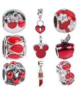 Nal fit pandora bracelet diy travel camera eiffel colosseum tower charms red christmas thumbtall