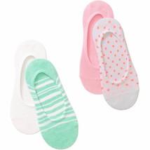 No Boundaries Liner Socks 4 Pack Women's Shoe Size 4-10 Green Stripes  #10 - $9.89