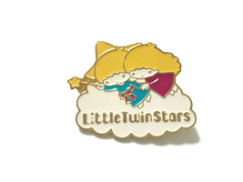 Little Twin Stars Pin Badge Old SANRIO Character Vintage Retro Super Rare - $28.99