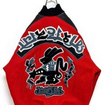 Kansai Yamamoto Auth KANSAI O2 1990's Vintage Stajan Stadium Jumper Red ... - $412.99