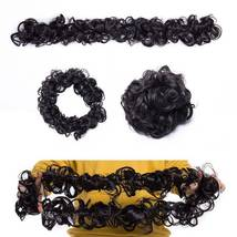 100% Real LARGE Thick Messy Bun Hairpiece NaturalHair Extension Curly image 13