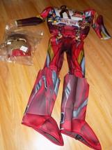 Size Medium 8-10 Marvel Civil War Iron Man Halloween Costume Jumpsuit & ... - $32.00