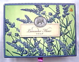Michel Design Works Lavender Fleur Soap Bar 4.5 oz Set of 2 Made in Eng... - $24.99