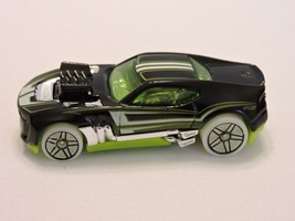 2010 Mattel Hot Wheels HW Twinduction Car Black Green Tint and Base - $5.51