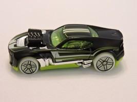 2010 Mattel Hot Wheels HW Twinduction Car Black Green Tint and Base - $5.51