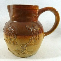 "Royal Doulton Lambeth Pottery 5"" Tall Pitcher , Brown, & Caramel  Unmarked - $26.18"