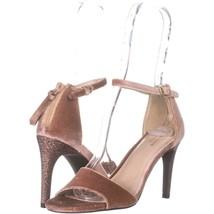 Cole Haan Clara Grand Ankle-Strap Dress Sandals 732, Nude Velvet, 6.5 US - $54.71