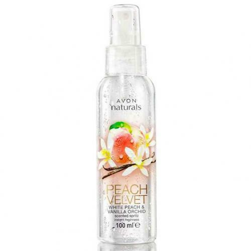 Primary image for Avon Naturals White Peach & Vanilla Orchid Body Mist Body Spray 100 ml New Rare