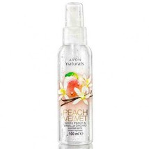 Avon Naturals White Peach & Vanilla Orchid Body Mist Body Spray 100 ml New Rare - $15.22