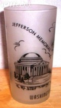 1960'S RETRO HAZEL ATLAS-- FROSTED SOUVENIR WASHINGTON DC GLASS TUMBLER - $12.45