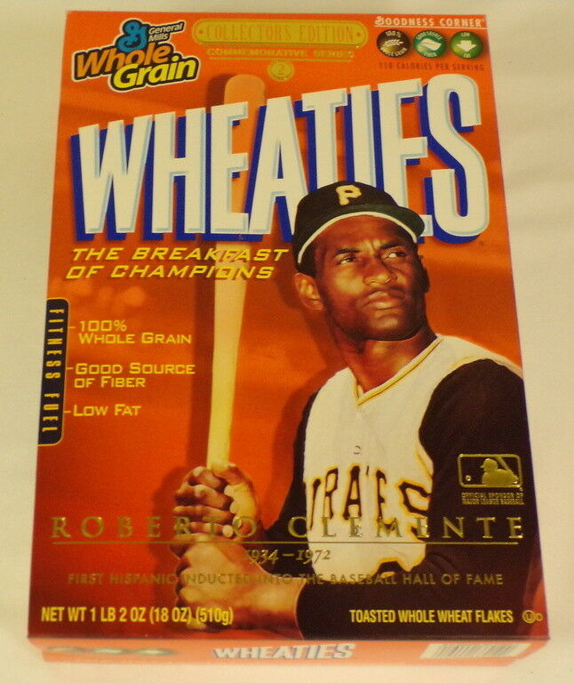 Roberto Clemente RARE 2005 Wheaties Promotional Cereal Box w/ Media Kit Pirates