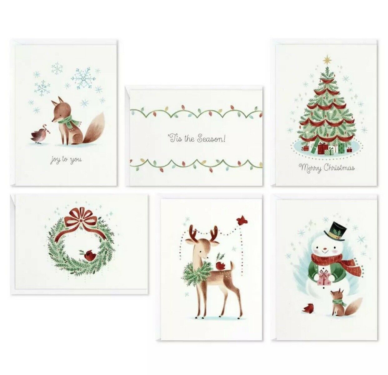 Hallmark 48ct Woodland Assorted Box Of Blank Holiday (Christmas) Cards - $24.99