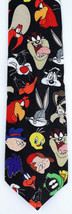 Looney Tunes Faces Men's Necktie Licensed Cartoon Character Bugs Black N... - $27.67