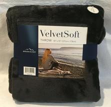 """Berkshire Velvet Soft Throw Charcoal Black Blanket 50/70"""" - $14.52"""