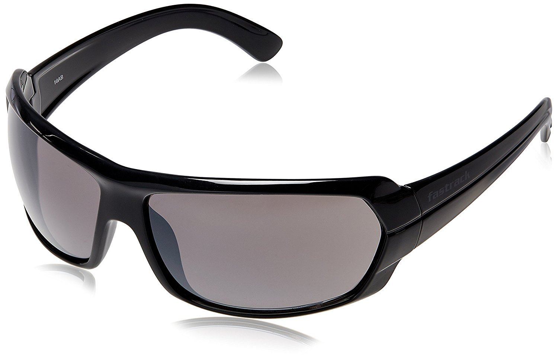 Fastrack Black Wrap Sunglasses (P190BK1|58|Brown)