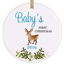 PrJoyint My First Christmas Baby Boy Ornament Baby's First Christmas Chr... - $21.46