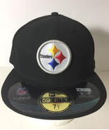 Pittsburgh Steelers New Era 59fifty On-Field  Hat Cap Size 7 1/2 - £16.23 GBP