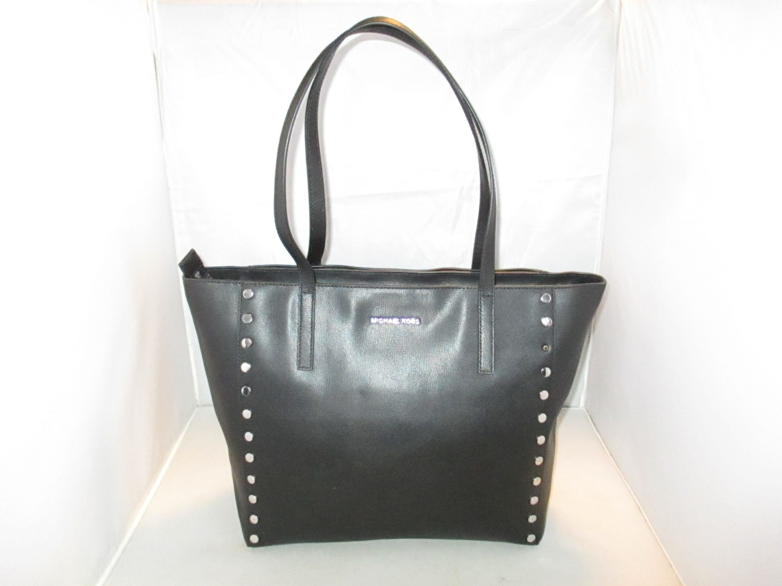 496b6415551a80 Michael Kors Handbag Rivington Stud Large Tote, Shoulder Bag, Satchel $328  Black