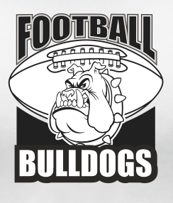 Bulldogs Football Team Sports Style Graphic T Shirt Black Red White L XL 2XL
