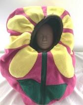 Fitted baby car seat canopy w/peekaboo opening Handmade Fleece Daisy Flo... - $47.08