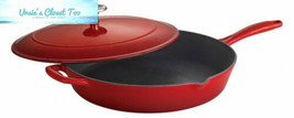 Tramontina Enameled Cast Iron Covered Skillet, 12-Inch, Gradated Red  - $74.89