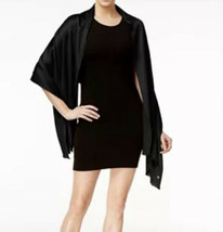 NWT Calvin Klein Pleated Evening Wrap Scarf Shawl One Size Fits Most Black - $23.76