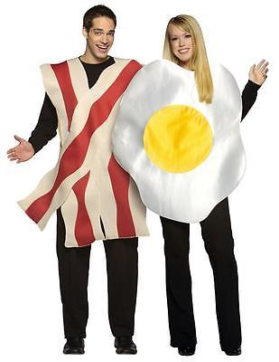 Bacon Fried Egg Couples Costume Food Halloween Party GC7096