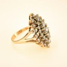2ct Diamond ring 14k Yellow Gold Ring Uk Size Q BHS - $2,734.63