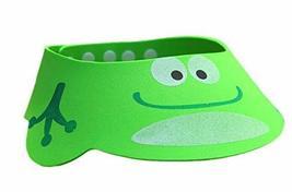 Smiling Green Frog EVA Shower Cap for Kids, Adjustable, Water-Proof - $10.48