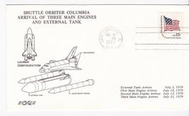 SHUTTLE ORBITER COLUMBIA ARRIVAL OF 3 MAIN ENGINES & EXTERNAL TANK 1979 - $1.98