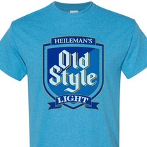 Old Style Light Beer T-shirt Distressed Vintage Label  heather blue tee image 2