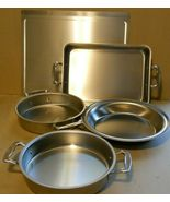 Americraft Stainless Steel Made in America 5pc Bake ware West Bend, Wisc. - $425.00