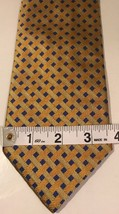 Brooks Brothers Yellow Geometric Silk Tie Pure Silk Woven In Italy Made In Usa - $9.80