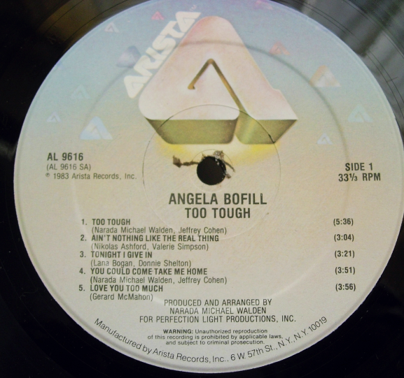Angel Bofill - Too Tough - Arista Records AL 9616