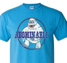 Abominable Snowman T-shirt retro 70s 80s Christmas special graphic blue tee image 1