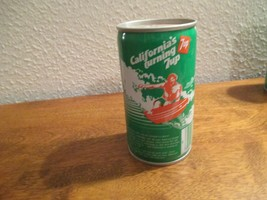 California CA Turning 7up vintage pop soda metal can Surfing coast - $10.99