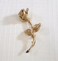 "Vintage 60s Pastelli ""Christmas Rose"" Long Stemmed Flower Brooch Pin - $29.98"