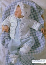 Baby Afghans 8 CROCHET PATTERNS Booties Sweater Bunting Granny Booties N... - $6.90