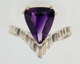 Garbis Amethyst Sterling Silver & 14K Gold Ring (Size 8.25) - $87.41