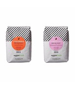AMAZON FRESH GROUND COFFEE 32OZ BUNDLE COLOMBIA AND DONUT CAFE MEDIUM ROAST - $33.64